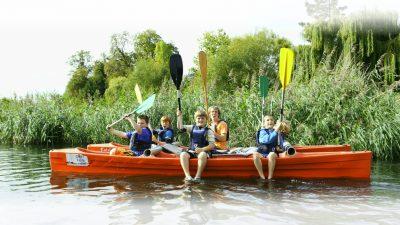 Kids on Kayak
